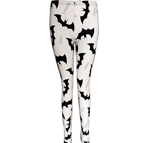 Etopfashion Women Digital Bat prints Leggings Slim Elastic Pants Trousers Test