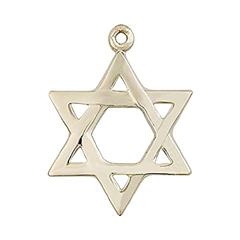 14ct Gold Star of David Medal. Includes deluxe flip-top gift box. Medal/Pendant measures 7/8