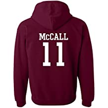 US01 Unisex Teen Wolf Beacon Hills Lacrosse Hoodie McCall 11 Sudadera de lacrosse con capucha (L)