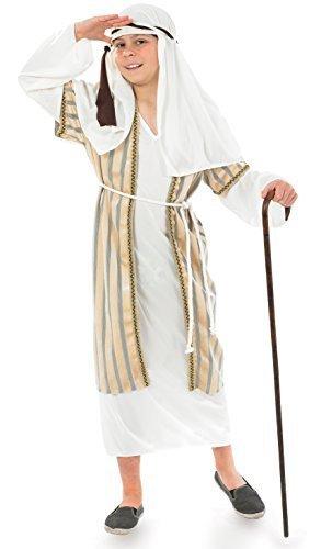 Pastore - Beige - bambini Natale Costume - Medium - 124 centimetri - Età 6-8