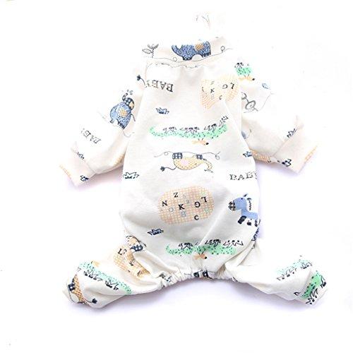 Love pet Pijamas para perros Ropa para cachorros de gato Ropa para perros pequeños de verano sección delgada (Color : A, Tamaño : XXL)