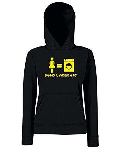 T-Shirtshock - Sweats a capuche Femme T0358 DANNO IL MEGLIO fun cool geek Noir