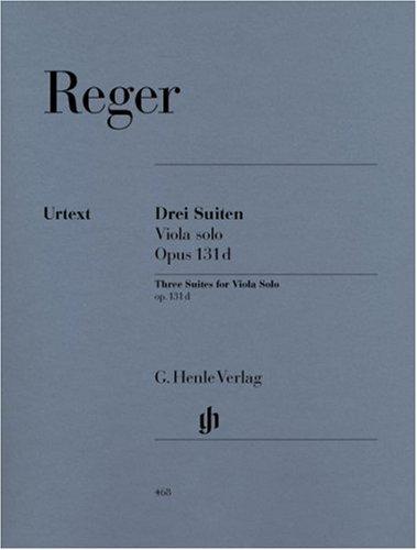 3 Suiten op. 131d für Viola solo