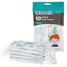 Kindermondmasker met 3-laags filter en makkelijk te plooien neusclip- voor jongens 4-12 jaar - 10 stuks