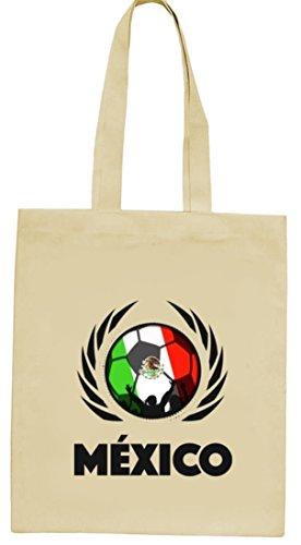 Mexico Football Wm Fanfest Groups Natura Juta Borsa Di Stoffa Tote Bag Football Messico Natura