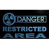 Cartel Luminoso ADV PRO m666-b Danger Restricted Area Neon Light Sign