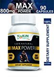 Vokin Biotech 100% Natural Max Power 800MG 90 Capsules For Testosterone Booster And