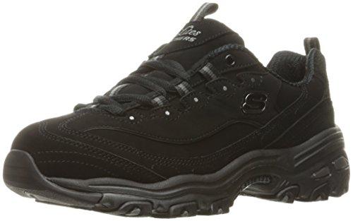 Skechers Damen Sneaker D´Lites BIGGEST FAN, Schwarz (schwarz / schwarz), 38 EU -