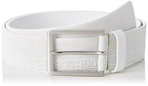 BOSS Athleisure Tony_sz40, Cinturón para Hombre, Blanco (White 100), 110 (Talla del fabricante: 95)