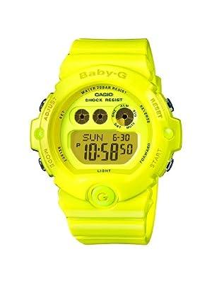 Casio Baby-G BG-6902-9ER correa de resina color amarillo (luz, alarma, cronómetro)