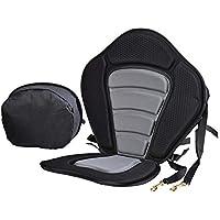 XGZ: asiento de kayak, respaldo de barco EVA asiento acolchado cómodo asiento de kayak en la parte superior del asiento de canoa asiento ajustable respaldo cojín de kayak con bolsa de almacenamiento desmontable