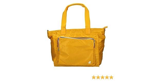 Borsa Borsetta Shopping Bag Donna K Way K Toujours Flat Crossover K1R07 Giallo