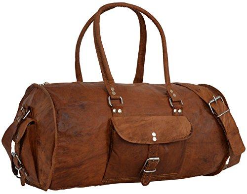 """Gusti Cuir nature """"David"""" sac bandoulière sac en cuir véritable naturel sac de voyage sac de sport sac porté épaule sac avec anses bagage à main sac en cuir besace cabas en cuir marron R38b"""