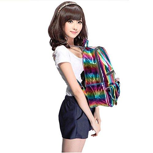 M-BAG , Damen Schultertasche Lila violett Colorful
