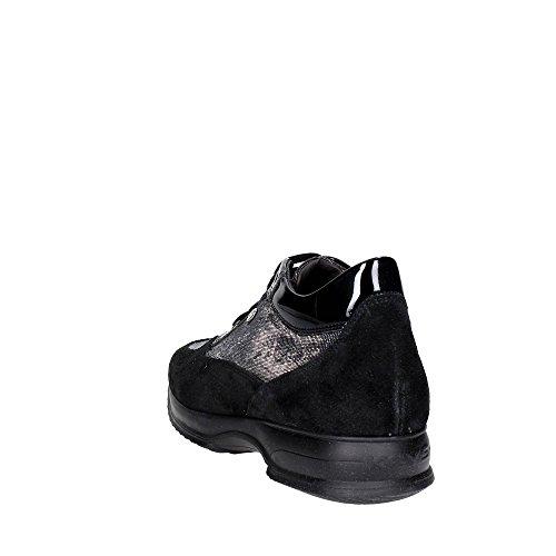 Keys 1038 Sneakers Femme Suède/glitter Noir