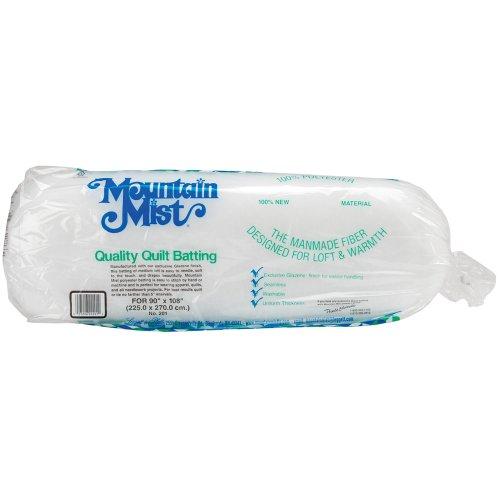 Mountain Mist Polyester Quilt Batting, Queen 90-inch-by-108-inch (Batting Quilten Polyester)