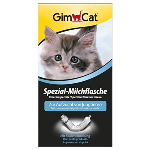 GimCat Spezial-Milchflasche mit Skaleneinteilung, Aufzuchthilfe für Katzenbabys und andere Jungtiere, 1 Flasche