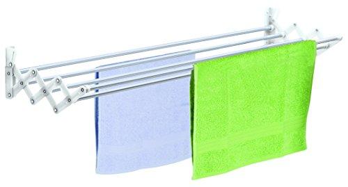 Casabriko Scherenwäschetrockner aus Aluminium, Weiß 120 cm Bianco/Alluminio
