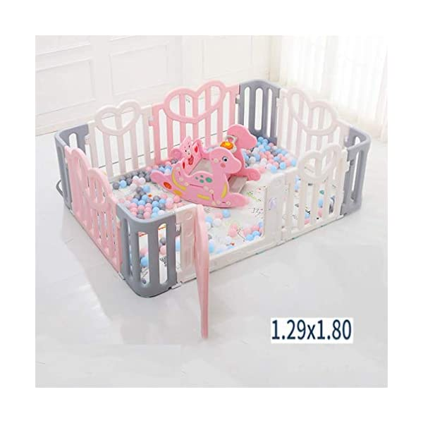 KAPR Children's Fence Indoor Small Amusement Park Baby Safety Creep Pad Walk-in Guardrail Sturdy - Made From Non-toxic Materials KAPR Silicone anti-slip and fixed snappush push is not to test the quality of the dimension of the fence Our fence in the push resistance to make even adults are not easy to push Interface square snap design Precision card position more stable each piece of fence up and down snap fixed can be assembled solid and not easy to push down Smooth surface no burrs no hurt hand artificial and mechanical double polishing trim to care for the baby's tender skin 17