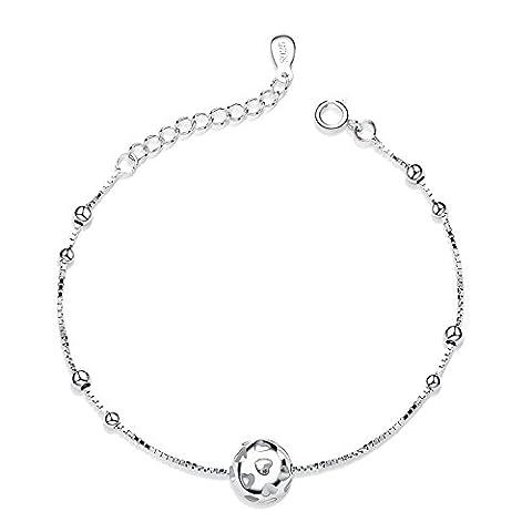 Fashion Simple Elegant Bling Bling Silver Hollow Heart Ball Shaped Pendant Girls Women Pendant Bracelet