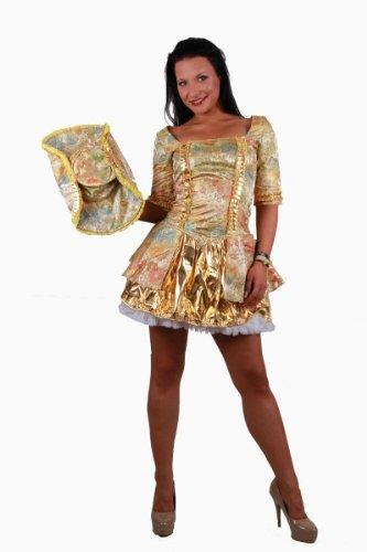 NFP Rokoko Dame * Renaissance * Gold Fantasy * Göttin * Minikleid Hut * Karneval Fasching 34 - 36, Kleidergr. Damen:32-36 Einheitsgröße, Fb.:bunt floral