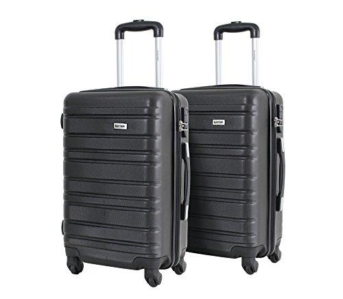 Set de 2 Bagages Cabines 55cm - ALISTAIR Escape - ABS Ultra légères et résistantes - 4 Roues -...