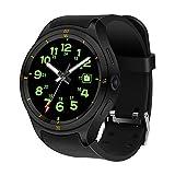 WETERS Fitness Tracker Aktivität Tracker Uhr Pulsmesser Wasserdicht 3G Unabhängige Kommunikation Mehrere GPS-Positionierung Sport Armband,Black