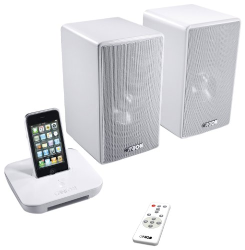 Canton Starter Pack your_Dock / your_Duo schnurlos Musiksystem für Apple iPod/iPhone weiß Ipod Dock - - Subwoofer