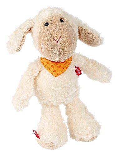 sigikid, Mädchen und Jungen, Stofftier Schaf klein, Emmala, Sweety, Weiß/Orange, 37989 (Stück Stoff Großes Gesicht)