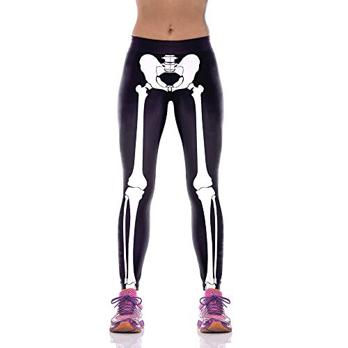 D Digitaldruck Yoga Hosen Hohe Taille Fitness Sport Skelett Einfache Männer Und Frauen Leggings, XL ()