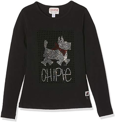 Chipie 8m10004, Camiseta para Niñas, Negro (Black 02), 3-4 años (Talla del Fabricante: 3A/4A)