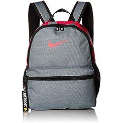 Nike Y NK BRSLA JDI Mini BKPK, Mochila Unisex Infantil, Multicolor (Cool Grey/Black/Racer), 15x24x45 cm (W x H x L)