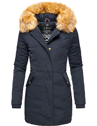 Marikoo Damen Winter Mantel Winterparka Karmaa Navy Gr. S