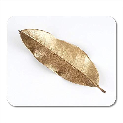 Mouse Pads Crown White Object of Gold Leaves Christmas Leaf Beautiful Floral Mouse Pad for Notebooks,Desktop Computers Mouse Mats, Office Supplies