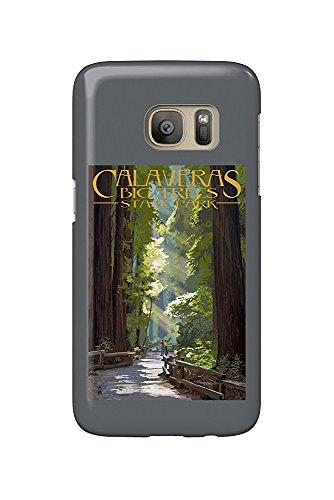 Calaveras Big Trees State Park, California - Pathway in Trees (Galaxy S7 Cell Phone Case, Slim Barely There) -