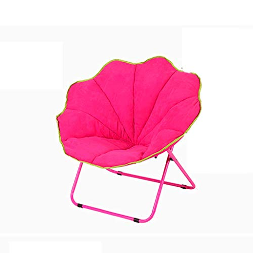 Moon Chair, Lounge Chair, Pliage, Paresseux, Dos, Maison, Balcon, Pause déjeuner, Nap, Bureau, Student, Dortoir, Lounge, Capacité de Charge 102Kg (Color : Pink)