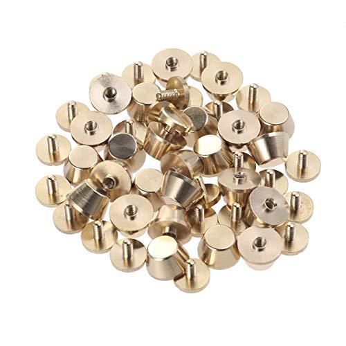 50770db564 Artibetter Borchie per Bottoni in Rame con Base a Vite per Borse Hardware  Borchie in Rame Accessori (Dorati) 25pcs 12x7mm