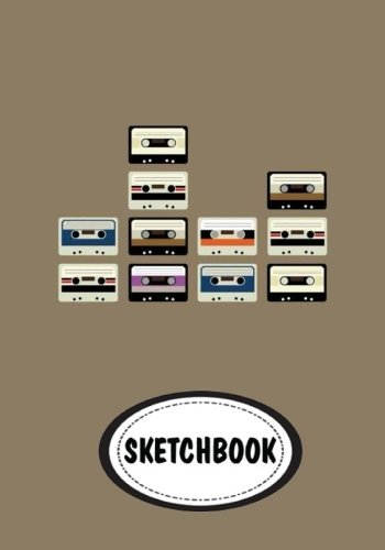 "Sketchbook: Cassette : 110 Pages of 7"" x 10"" Blank Paper for Drawing (Sketchbooks)"