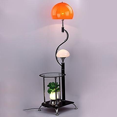 NAUY- Lampes de plancher Chinois moderne avec table à café Lampe de sol Table d'angle Chou Éclairage décoratif ( Couleur : Orange )