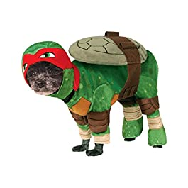 Rubie' s Costume Ufficiale Pet Dog, Raffaello, Tartarughe Ninja–Small