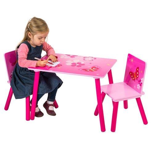 Butterfly-tisch-stuhl-set (Schmetterling Tisch und Stuhl-Set Kids Kinder Spielzimmer Möbel Set)