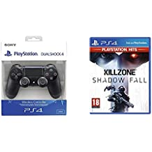 Sony - Dualshock 4 V2 Mando Inalámbrico, Color Negro V2 (PS4) + Shadow Fall Hits