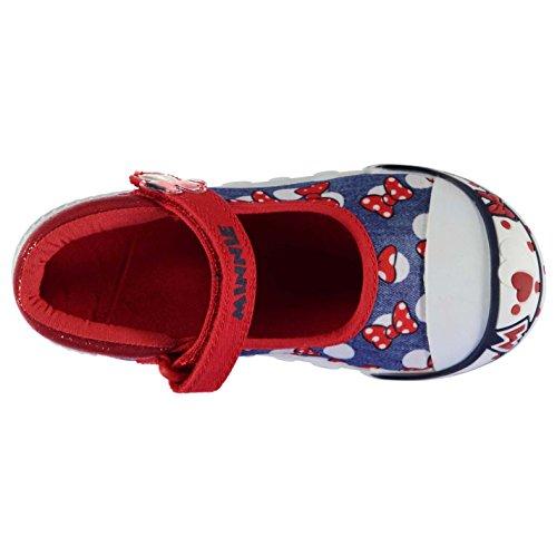 Character Kinder Maedchen Canvas Turnschuhe Schuhe Freizeit Klettverschluss Minnie