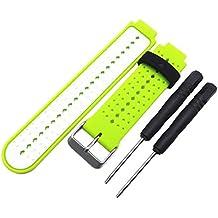 Malloom Venda de reloj de pulsera silicona recambio con herramientas para Garmin Forerunner 220 230 235 (D)