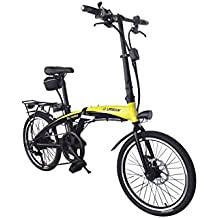 Helliot Bikes by 01 Bicicleta Eléctrica Plegable, Adultos Unisex, Amarillo/Negro, ...