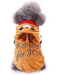 Ropa para Perros, Gusspower Sudaderas con Capucha Abrigos Lindo Perro Elk Trajes De Navidad Chaqueta Vestido Abrigos para Mascotas