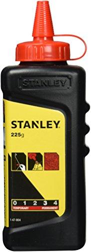 Stanley Schlagschnurkreide (225g, gut haftend, sehr wasserfest, schwer löslich, in Kunststoffdose) 1-47-804, rot
