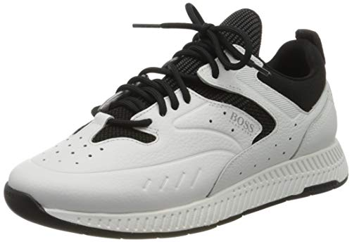 BOSS Herren Titanium_Runn_kntb Sneaker, Weiß (Open White 120), 40 EU