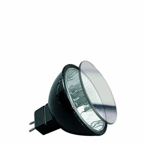 Paulmann Halogen Reflektor Akzent mit Schutzglas FMW flood 38° 35W, GU5,3 12V 51mm Schwarz - Akzent Akzent 12v