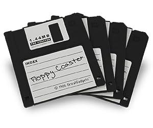 GreatGadgets 1889-1 Floppy Coasters (4x Black)